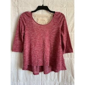 Aéropostale Red Top w/ Crochet